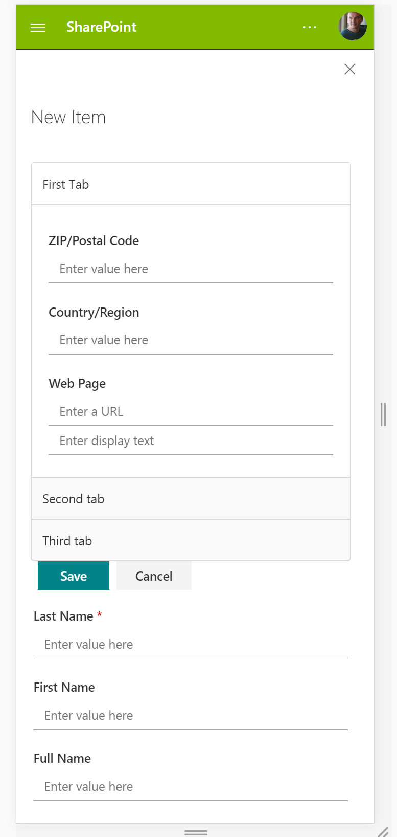 responsive sharepoint form