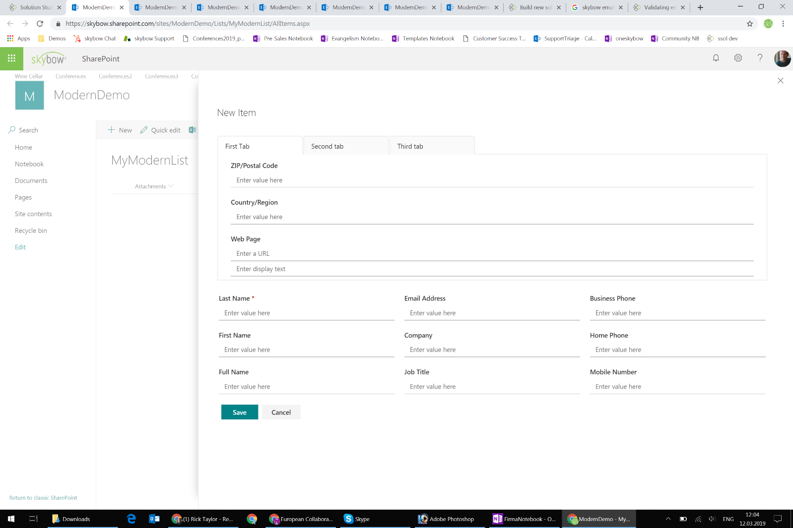 form design SharePoint modern page