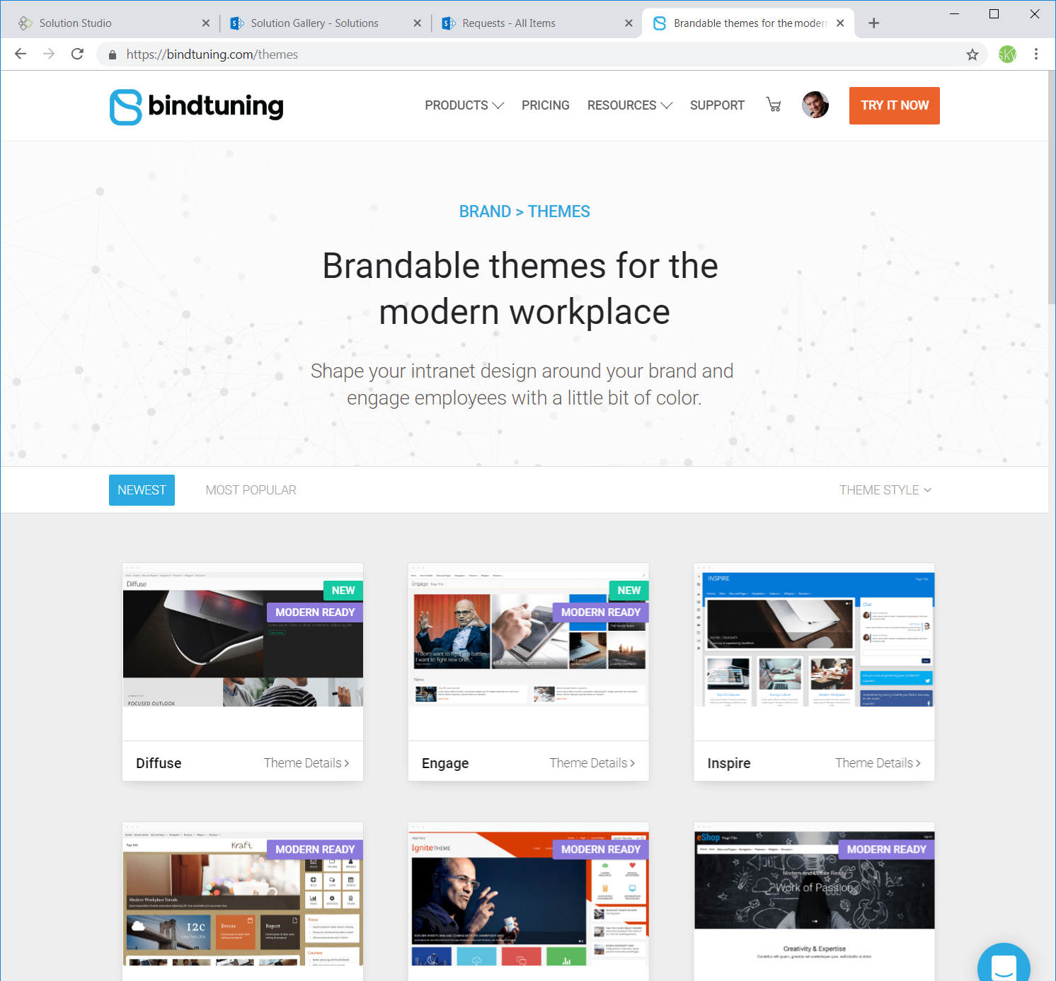bindtuning marketplace