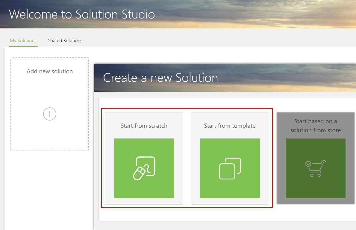 Step 2 - Create a new solution