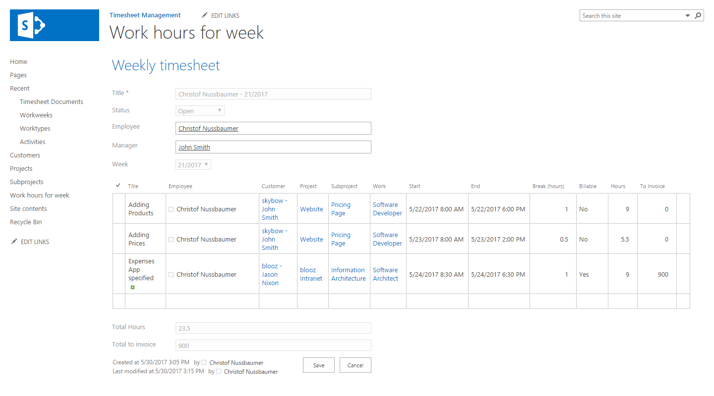 hours time sheet