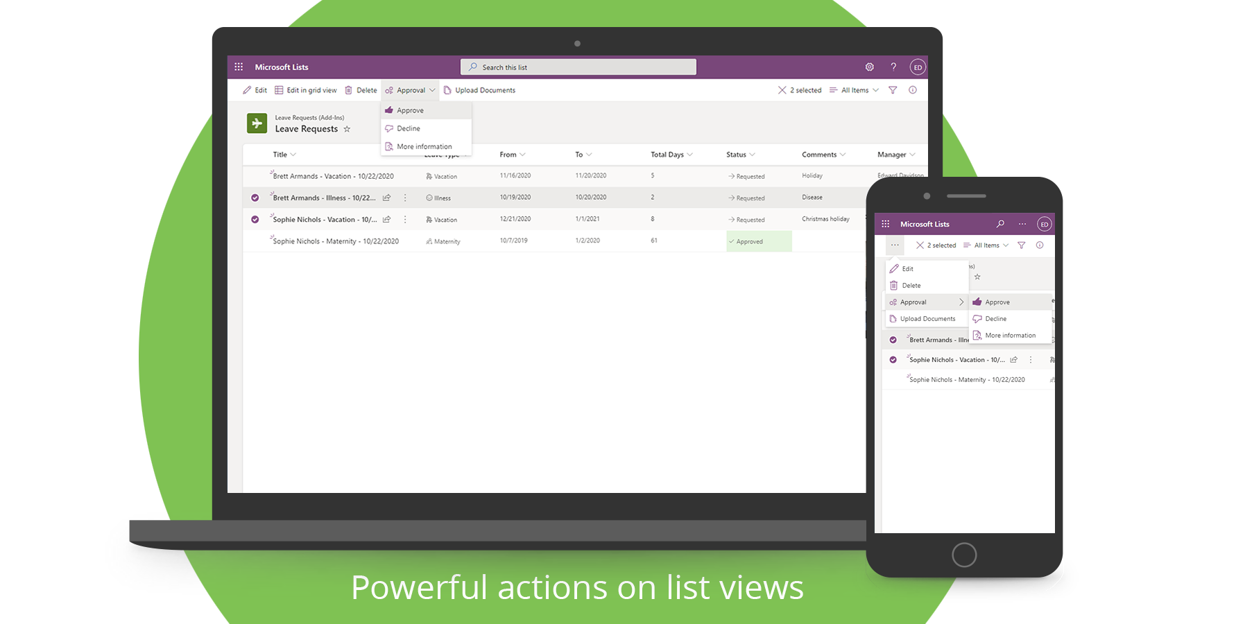 List Actions Add-In